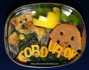 Bento lunch based on Corduroy by Don Freeman