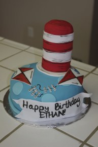 Awesome Cat and the hat birthday cake