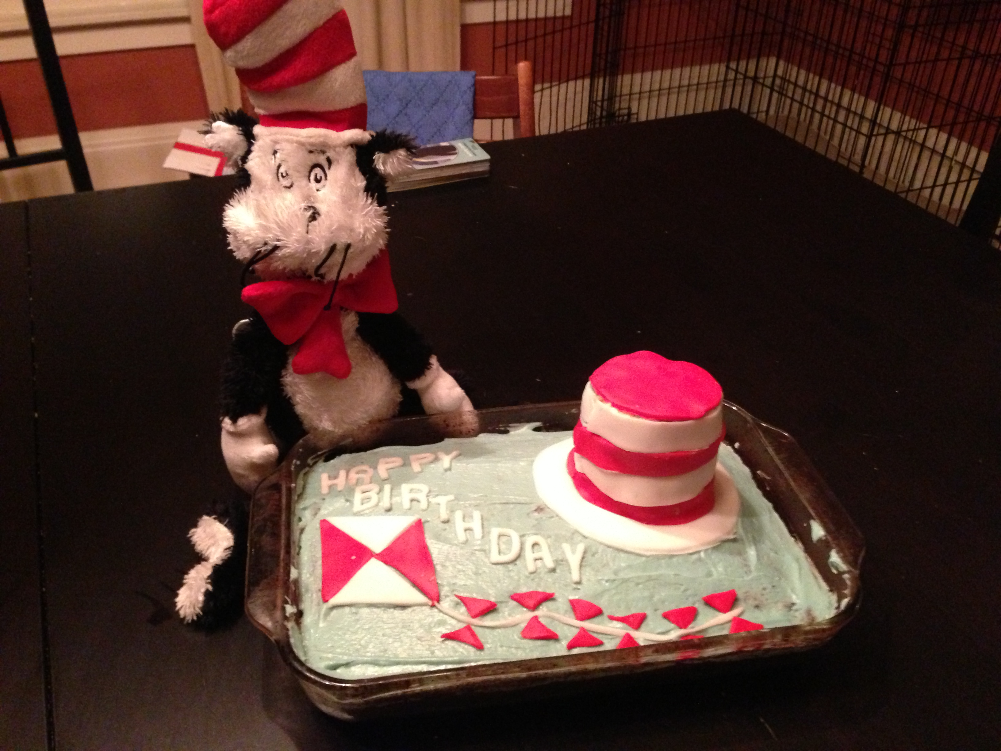 Cat And The Hat Birthday Cake Foodler